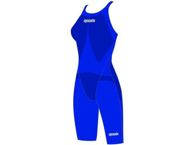 speedo LZR Racer Element Openback Kneeskin Women beautiful blue